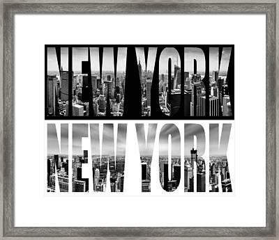 New York New York Framed Print by Az Jackson