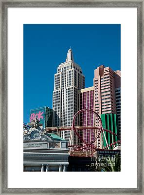 New York New York Hotel Framed Print by Andy Smy