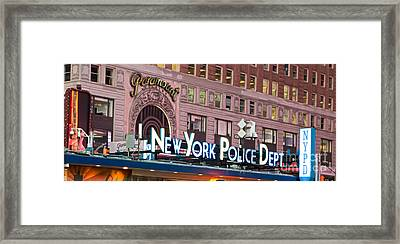 New York Police Times Square Framed Print by Terry Weaver