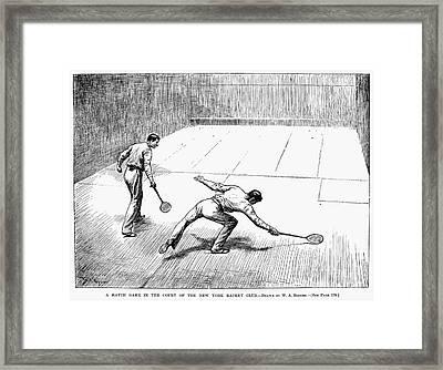 New York: Racket Club Framed Print by Granger