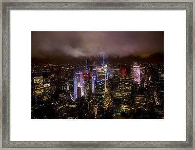 New York Skyline Framed Print by Martin Newman