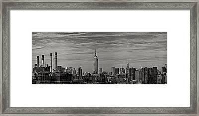 New York Skyline Framed Print by Robert Ullmann