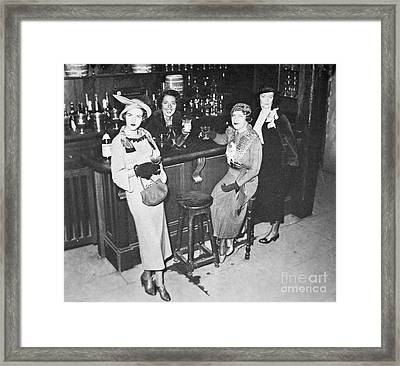New York Society Women Enjoy Their First Legal Drink After The Repeal Of The Volstead Act In 1933 Framed Print by American School
