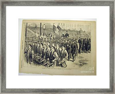 New York State Militia Framed Print by Evacuation Day Parade