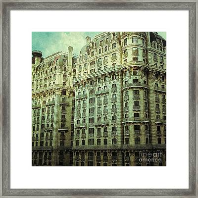 New York Upper West Side Apartment Building Framed Print by Amy Cicconi