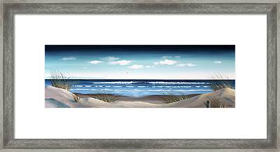 New Zealand Brighton Beach By Linelle Stacey Framed Print by Linelle Stacey