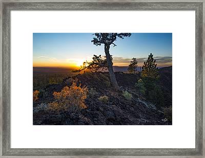 Newberry Monument Sunrise Framed Print by Leland D Howard