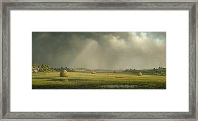 Newburyport Meadows  Framed Print by Martin Johnson Heade
