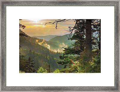 Newfound Sunset Framed Print by Bryan Bzdula