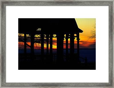 Newlands' Pavilion Sunset Framed Print by Paul Wash
