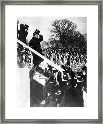 Newly Inaugurated President Of The U.s Framed Print by Everett