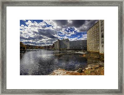 Newmarket Nh Framed Print by Eric Gendron
