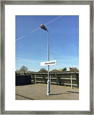 Newmarket Station Framed Print by Tom Gowanlock