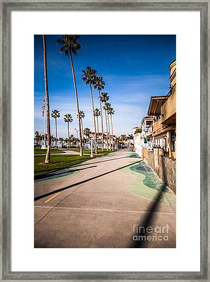 Newport Beach Boardwalk Framed Print by Paul Velgos