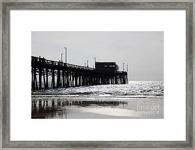 Newport Pier Framed Print by Paul Velgos