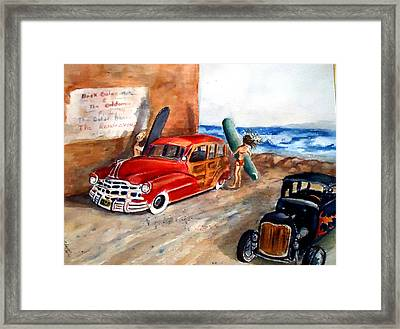 Newport Woody Framed Print by Charme Curtin