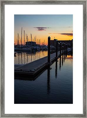 Newports Dusk  Framed Print by Karol Livote