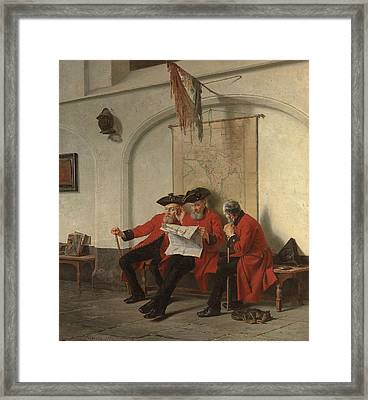 News From The Front Framed Print by Charles Meer Webb