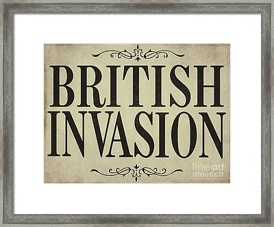 Newspaper Headline British Invasion Framed Print by Mindy Sommers