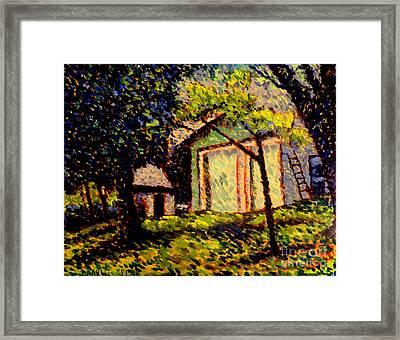 Newtons Apple II Plein Air Framed Framed Print by Charlie Spear