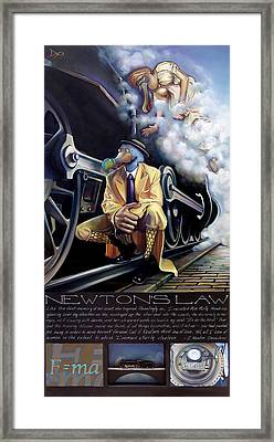 Newton's Law Framed Print by Patrick Anthony Pierson