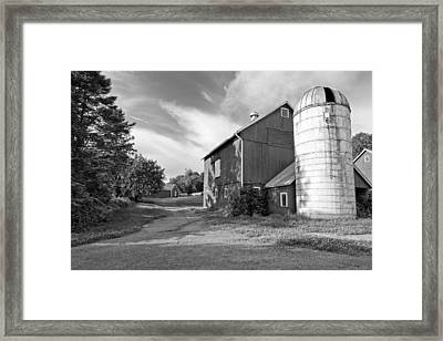Newtown Barn Bw Framed Print by Bill Wakeley