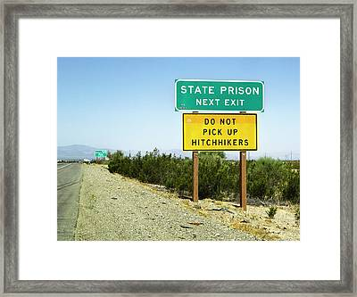 Next Exit Framed Print by Patricia Sanders