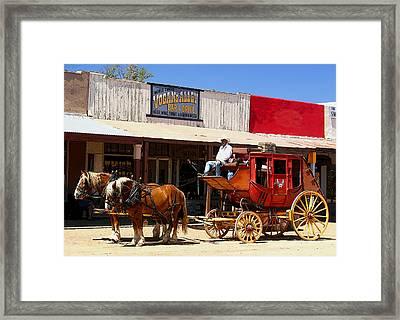 Next Stop Bisbee Framed Print by Joe Kozlowski