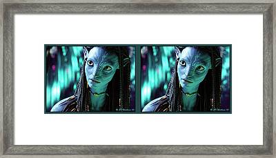 Neytiri - Gently Cross Your Eyes And Focus On The Middle Image Framed Print by Brian Wallace