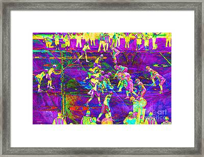 Nfl Football Red Zone Dsc3941 20151215 M135 Framed Print by Wingsdomain Art and Photography