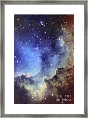 Ngc 7380 Emission Nebula In Cepheus Framed Print by Ken Crawford