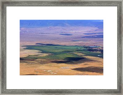 Ngorongoro Crater Tanzania Framed Print by Aidan Moran