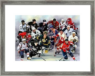 Nhl Superstars And Legends Framed Print by Blackwater Studio
