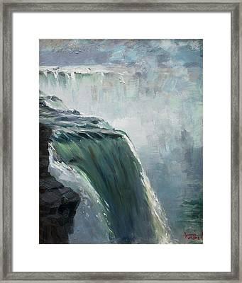 Niagara Falls Ny Framed Print by Ylli Haruni