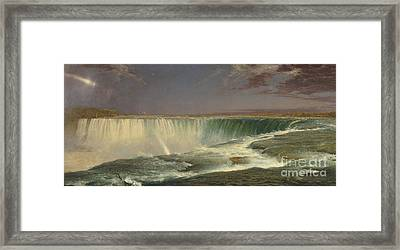 Niagara Framed Print by Frederic Edwin Church