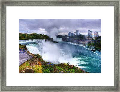 Niagra Framed Print by Ches Black