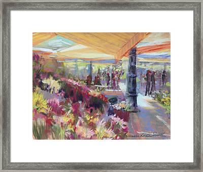 Nice Flower Market Framed Print by Jeanne Rosier Smith