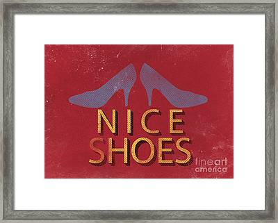 Nice Shoes  Framed Print by Edward Fielding