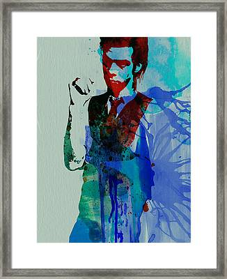 Nick Cave Framed Print by Naxart Studio