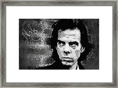 Nick Cave Framed Print by Taylan Soyturk
