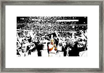 Nick Saban Framed Print by Brian Reaves