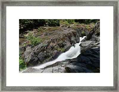 Nickle Creek Sliding Down The Mountain Framed Print by Jeff Swan