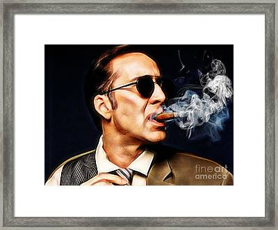 Nicolas Cage Collection Framed Print by Marvin Blaine