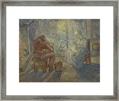 Night After Millet Framed Print by Vincent van Gogh