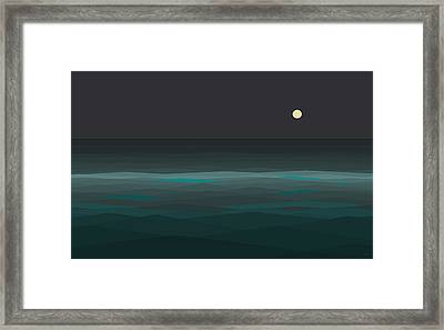 Night At Sea Framed Print by Val Arie