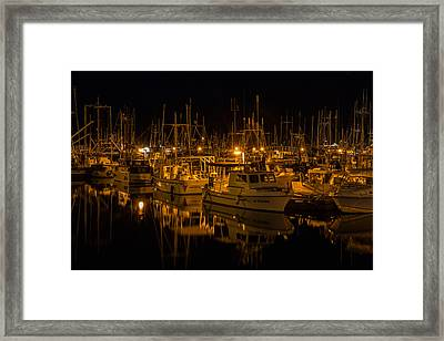 Night At The Marina Framed Print by Randy Hall