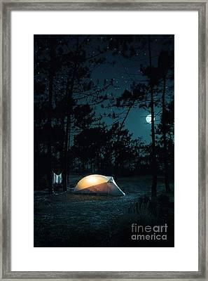 Night Camping Framed Print by Carlos Caetano