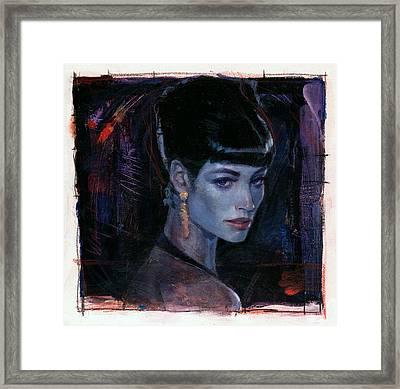 Night Club Girl 1 Framed Print by Bill Mather