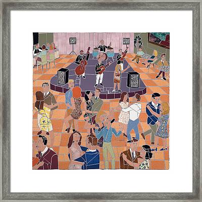 Night Club Framed Print by Jonathan Mandell