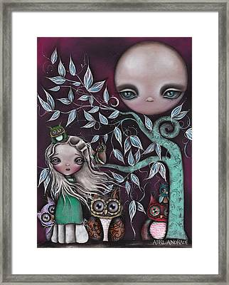 Night Creatures Framed Print by  Abril Andrade Griffith